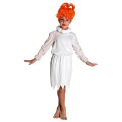 Πρωτόγονη στολή Βίλμα  για κορίτσια με κολιέ