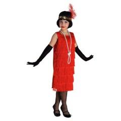 Τσάρλεστον με Κρόσσια κόκκινη στολή για κορίτσια