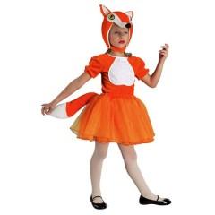 Αλεπουδίτσα πορτοκαλί στολή για μικρά κορίτσια