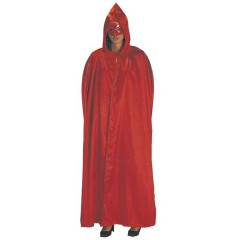 Ντόμινο Κόκκινο κλασική αποκριάτικη στολή ενηλίκων