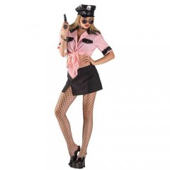 Sexy Αστυνομικίνα με ροζ πουκάμισο γυναικεία στολή