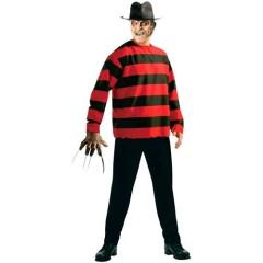 Φρέντυ στολή Μπλούζα για ενήλικες του Freddy Krueger στο δρόμο με τα δέντρα