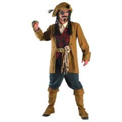 Πειρατής στολή ενηλίκων με καφέ σακάκι