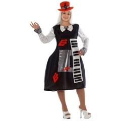 Πιάνο γυναικεία στολή φόρεμα ενηλίκων