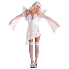 Άγγελος Λευκός με φτερά γυναικεία στολή ενήλικων