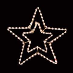 Φωτιζόμενο Αστέρι διπλό λευκό 60cm με πρόγραμμα