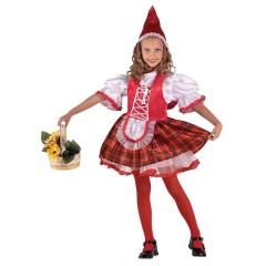 Κοκκινοσκουφίτσα καρό φούστα για μικρά κορίτσια