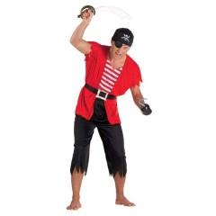 Πειρατής στολή ενηλίκων κόκκινη