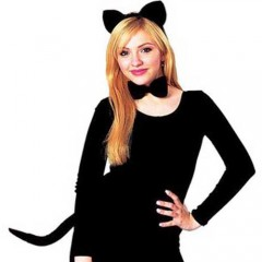 Σετ μαύρης Γάτας με παπιγιόν
