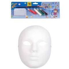 Μάσκα ζωγραφικής Paper Mache full face  Με Χρώματα