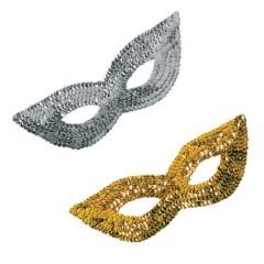 Μάσκα Ματιών Με Πούλιες χρυσή η ασημένια