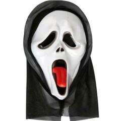 Μάσκα Φάντασμα πλαστική με κουκούλα scary movie