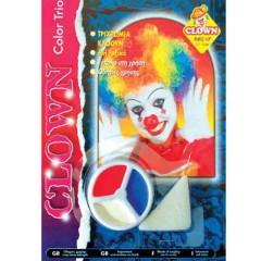 Μακιγιάζ 3 χρώματα Clown σε παλέτα