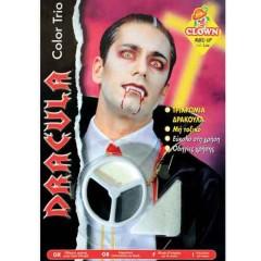 Μακιγιάζ 3 χρώματα Dracula σε παλλέτα