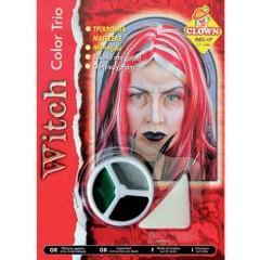 Μακιγιάζ 3 χρώματα Witch σε παλλέτα