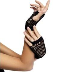 Γάντια Κοντά Διχτυωτά Μαύρα 10 εκ.