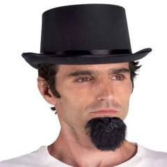 Καπέλο Ημίψηλο Μαύρο Σατέν