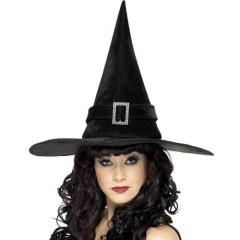 Καπέλο Μάγισσας βελούδο με αγκράφα