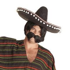 Καπέλο Μεξικανού ψάθινο σε τρία χρώματα