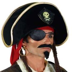 Καπέλο Πειρατή Βελούδινο Με Latex νεκροκεφαλή