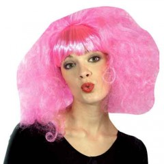 Περούκα Ροζ Lolipop Με Αφέλεια
