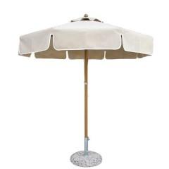 Ομπρέλα 2.5m αλουμινίου Alu lux με βολάν διάφορα χρώματα