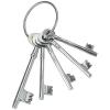 Κλειδιά κρεμαστά διακοσμητικά μεταλλικά ασημί σε κρίκο 5 τεμάχια