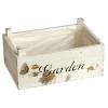 Καφασάκι κασπώ διακοσμητικό ξύλινο λευκό αντικέ  Garden 23Χ15cm