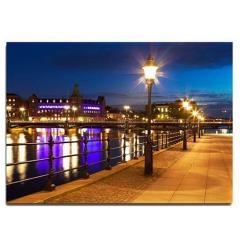 Πίνακας διακοσμητικός με led φως λίμνη 60x40cm