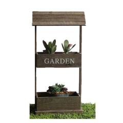 Θήκη για γλάστρες ξύλινο σκεπαστό διπλό Garden