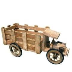 Ξύλινο φορτηγάκι διακοσμητικό για γλάστρες