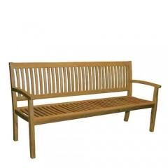 Τριθέσιος καναπές ακακία με κάθετα ξύλα