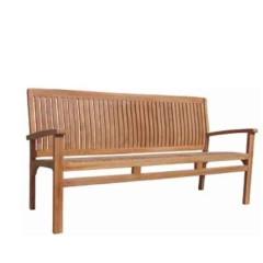 Διθέσιος καναπές από ξύλο teak σε κλασσικό σχέδιο