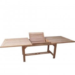 Τραπέζι 160-2.10Χ90cm Teak  παραλληλόγραμμο επεκτεινόμενο