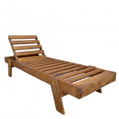 Mandi ξαπλώστρα ξύλινη από πεύκο στοιβαζόμενη
