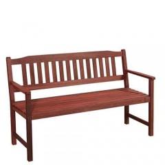 Τριθέσιος καναπές από ξύλο red shorea