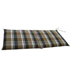Μαξιλάρι για καναπέ και κούνια διθέσιο καφέ καρώ Eco line multi brown