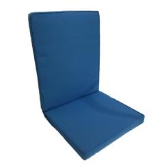Μαξιλάρι πολυθρόνας με χαμηλή πλάτη μονόχρωμο μπλε ρουά