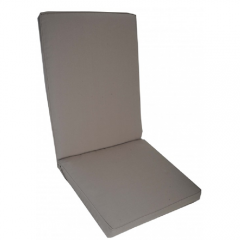 Μαξιλάρι πολυθρόνας με χαμηλή πλάτη μονόχρωμο πούρο taupe