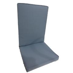 Μαξιλάρι πολυθρόνας με χαμηλή πλάτη μονόχρωμο γκρι ανθρακί