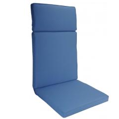 Μαξιλάρι πολυθρόνας με ψηλή πλάτη μονόχρωμο μπλε ραφ