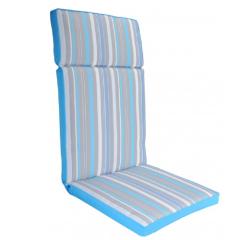 Μαξιλάρι πολυθρόνας με ψηλή πλάτη ριγε γαλάζιο γκρι λευκό