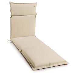 Μαξιλάρι ξαπλώστρας πισίνας μονόχρωμο εκρου Gumnut Ecru 10cm