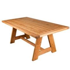 Τραπέζι κήπου 200x100cm Αρίων μοναστηριακό από οξιά