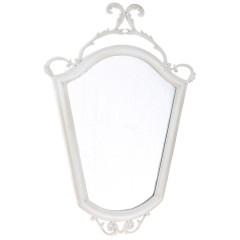 Καθρέπτης τοίχου λευκό αντικέ