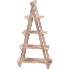 Ραφιέρα ξύλινη με 4 επίπεδα 110cm