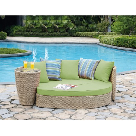 Daybed Lime ραττάν με σκελετό αλουμινίου σετ 2 τεμαχίων