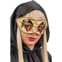 Μάσκα Βενετσιάνικη Μαύρο Χρυσό