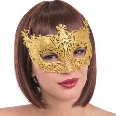 Μάσκα Ματιών Χρυσή με Glitter