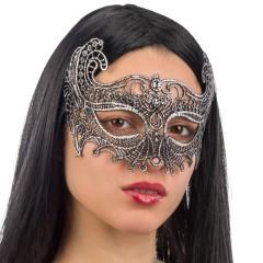Μάσκα Ματιών Ασημί με Μύτες